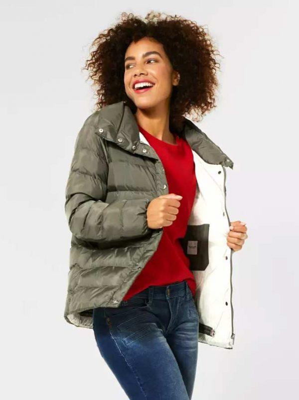 sustainable high collar winter jacket kakai green Shop Carrickmacross Shop Online