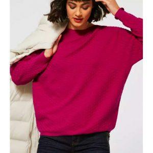 oversized loose fit pink jumper