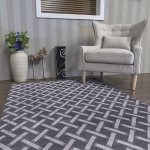 Ambience Criss-Cross Dark Grey Setting (Large) Shop Carrickmacross Shop Online