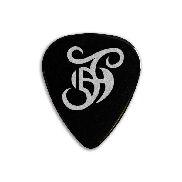 Barry Jay Hughes Guitar Plectrum Black