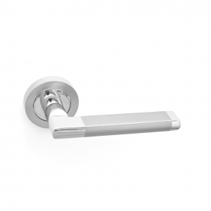Boyne-Door-Handle-on-Rose-Zinc-Satin-Nickel-Chrome-Pair