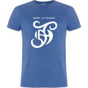 Denim Blue Fair Trade T-Shirt - Barry Jay Hughes