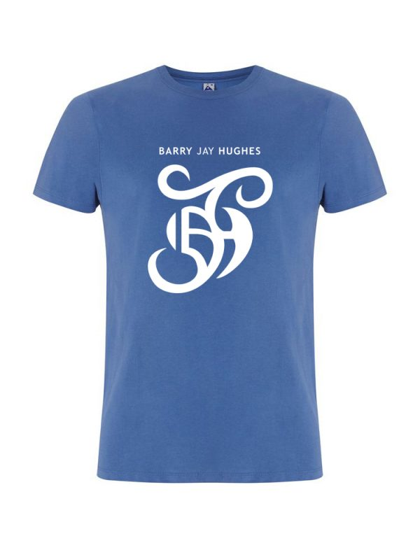 Denim Blue Fair Trade T-Shirt - Barry Jay Hughes