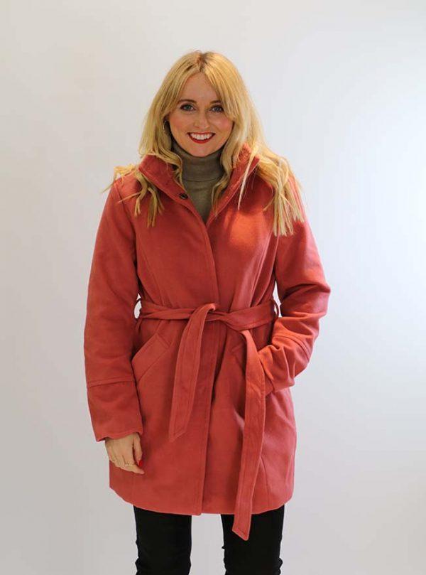 belted winter coat with high collar Shop Carrickmacross Shop Online
