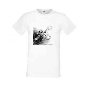 Ladies fitted white T-shirt