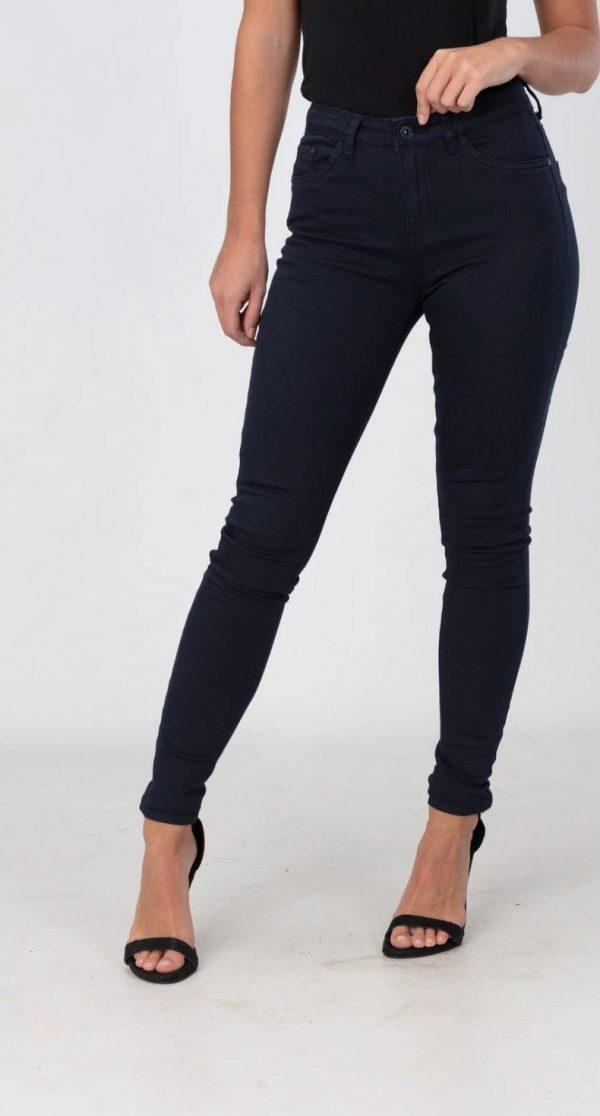 navy slim leg high waisted jeans