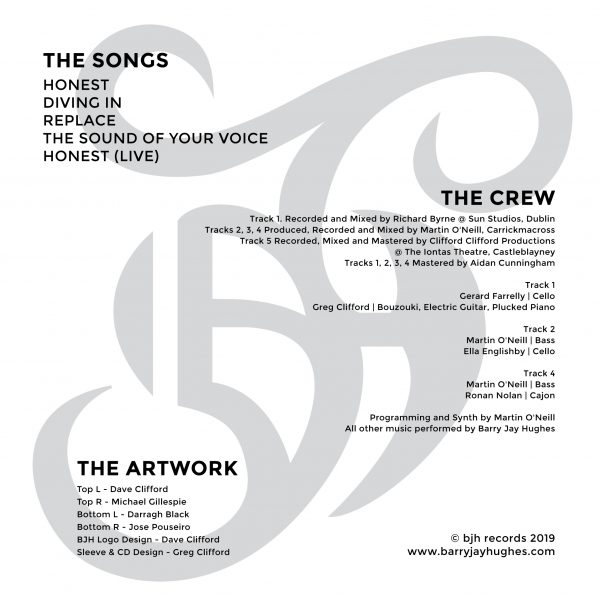 Track listing for the 2019 EP from Barry Jay Hughes - Just Be Honest With Yourself