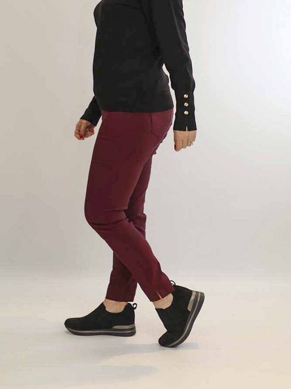 stretch jeggings with high waist