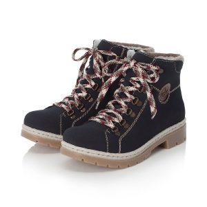 rieker ladies navy ankle boot