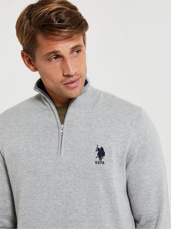 us polo half zip grey Shop Carrickmacross Shop Online