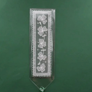 Carrickmacross Lace Bookmark Shamrocks