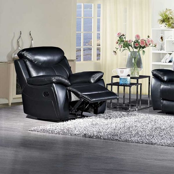 Bradshaw-Black-Leather-1-Seater-recliner-Sofa- Shop Carrickmacross Shop Online