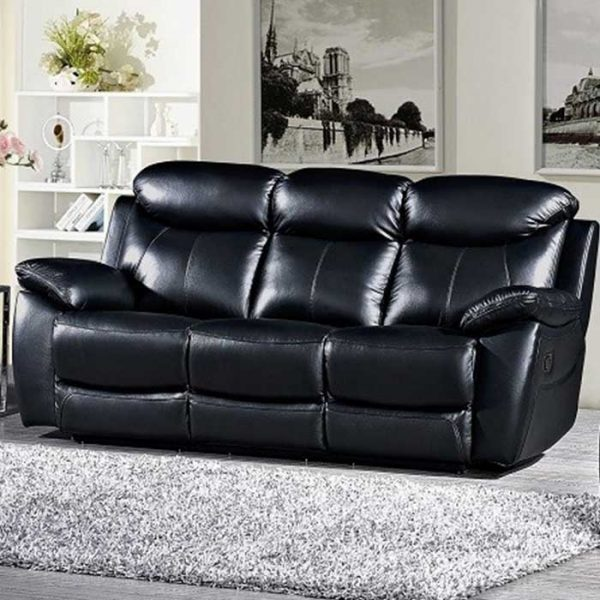 Bradshaw-Black-Leather-recliner-Sofa-3-seater Shop Carrickmacross Shop Online