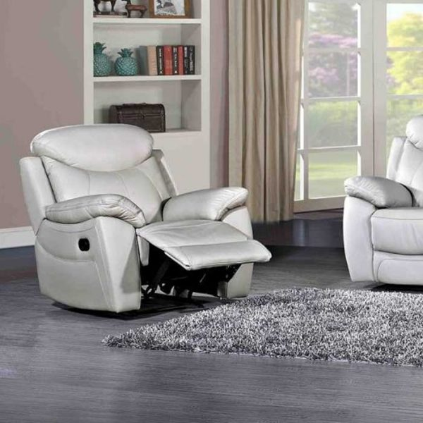 Bradshaw-Light-Grey-Leather-1-seater-Recliner-Sofa Shop Carrickmacross Shop Online