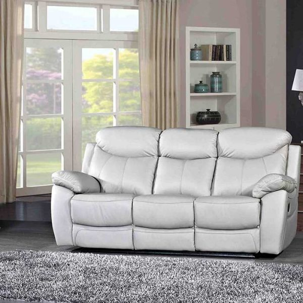 Bradshaw-Light-Grey-Leather-3-seater-Recliner-Sofa Shop Carrickmacross Shop Online