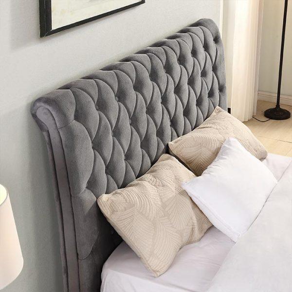 Kilkenny-Bed-Headboard-Grey Shop Carrickmacross Shop Online