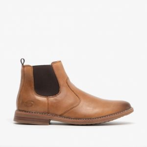 Skechers mens tan leather boots