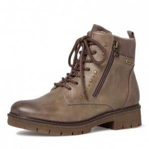 tamaris taupe stud ankle boot