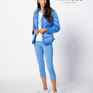 sky blue padded jacket from marble