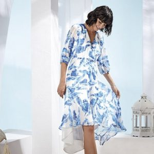 royal blue and white dress from paz torraz