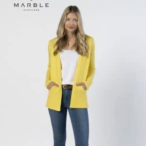 lemon marble cardigan