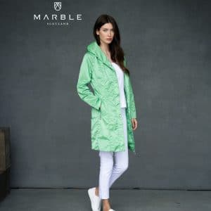 green coat from marble
