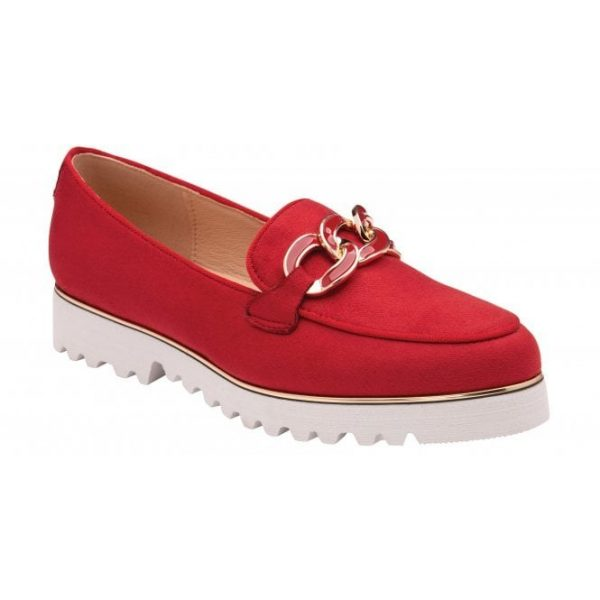 Lotus 'Cassia' Ladies Loafers (Red)