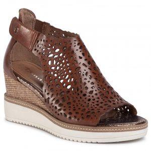Tamaris '28316' Ladies Wedge Sandals (Brandy)