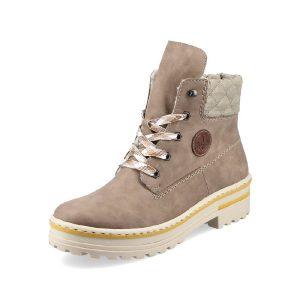 Rieker 'Z8101' Ladies Ankle Boots (Beige)